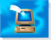 computer with email