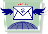 email with wings