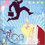 man jumping bldg