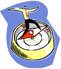 man on compass