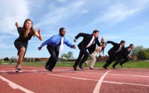 business people race